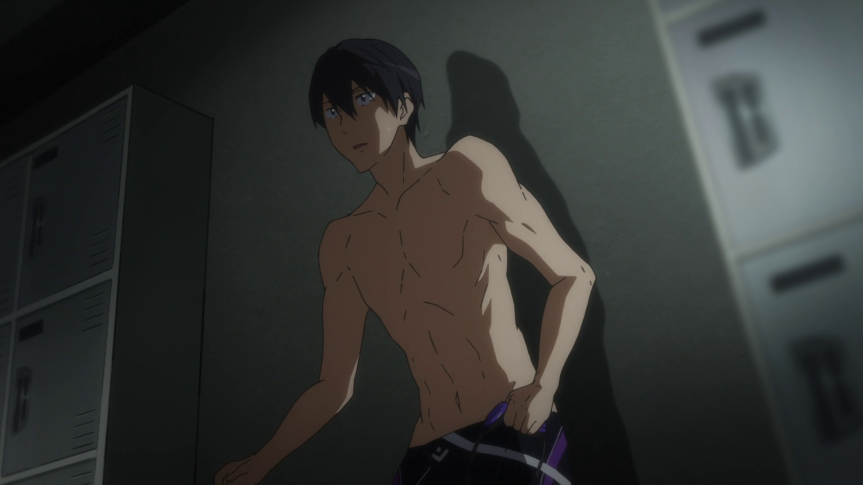 This is how it is. Backed into a corner. This is how Haruka Nanase really feels.