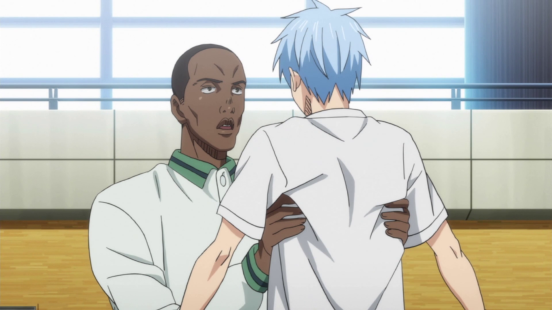 It's nice to show an African American player in a Japanese anime. This is Papa Nboye Siki they just call him Dad LOL